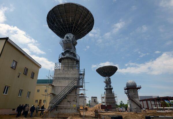 Antena na kosmodromie Wostocznyj w obwodzie amurskim. - Sputnik Polska