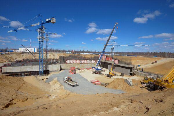 Widok na plac budowy kosmodromu Wostocznyj budowany w pobliżu wsi Uglegorsk w obwodzie amurskim. - Sputnik Polska