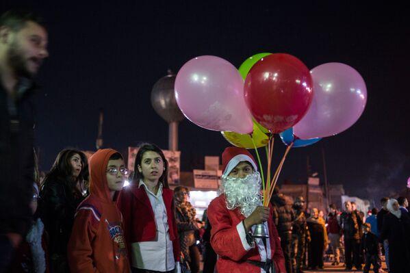 Obchody Bożego Narodzenia na ulicach Damaszku - Sputnik Polska