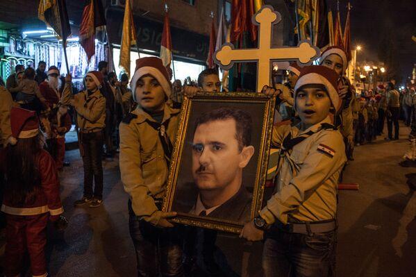 Na ulicach Damaszku podczas obchodów Bożego Narodzenia - Sputnik Polska