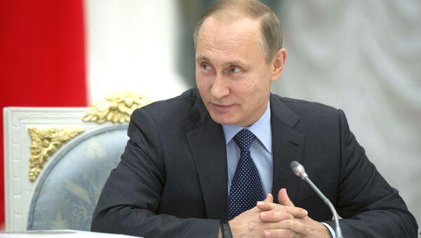Władimir Putin na posiedzeniu Rady ds. rozwoju kultury fizycznej i sportu i komitetu organizacyjnego Rosja-2018 - Sputnik Polska
