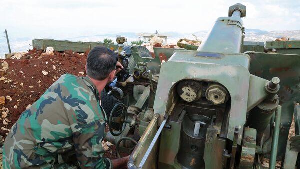 Pozycja syryjskiego ruchu oporu w prowincji Latakia na granicy z Turcją - Sputnik Polska