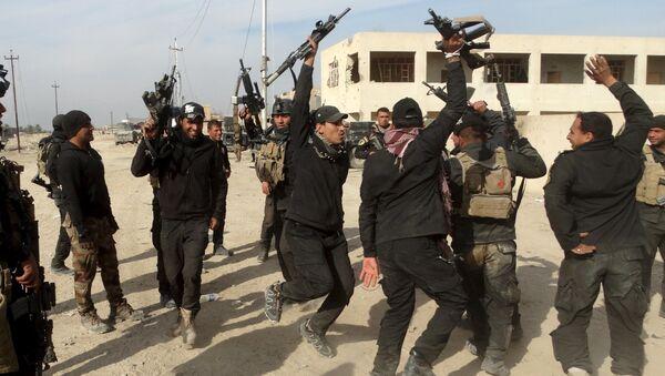 Żołnierze irackiego elitarnego pododdziału antyterrorystycznego w ar-Ramadi - Sputnik Polska
