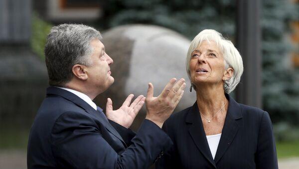 Petro Poroszenko i Christine Lagarde - Sputnik Polska