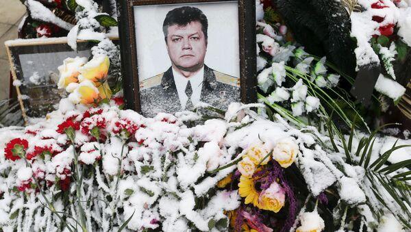 Portret poległego pilota Olega Pieszkowa - Sputnik Polska