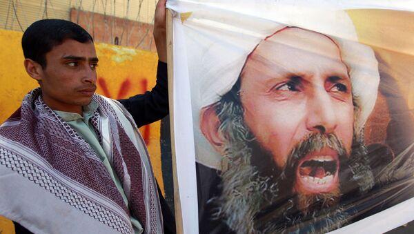 Protesty na Bliskim Wschodzie przeciw przeprowadzonej w Arabii Saudyjskiej egzekucji duchownego szyickiego Nimra al-Nimra - Sputnik Polska
