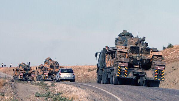 Tureckie czołgi na granicy z Irakiem - Sputnik Polska