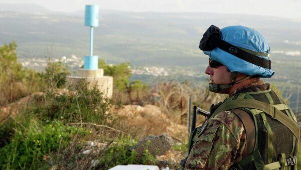 Żołnierz sił pokojowych ONZ - Sputnik Polska