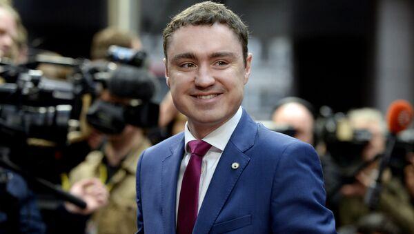 Premier Estonii Taavi Rõivas w Brukseli - Sputnik Polska