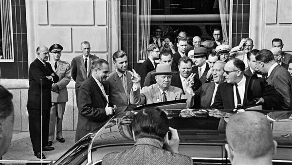 Oficjalna wizyta przewodniczącego Rady ministrów ZSRR Nikity Chruszczowa w USA - Sputnik Polska