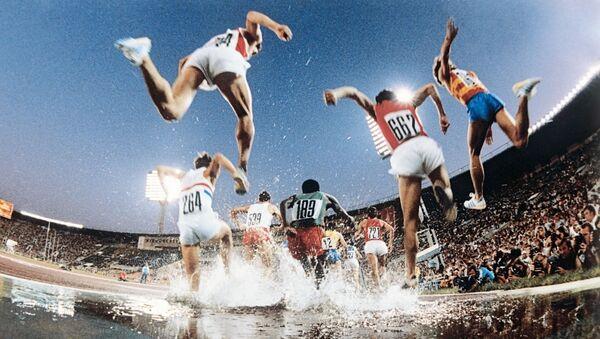 Bieg z przeszkodami na XXII Igrzyskach Olimpijskich w Moskwie - Sputnik Polska