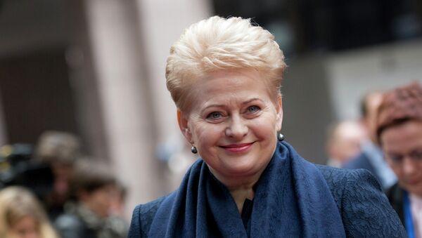 Prezydent Litwy Dalia Grybauskaite - Sputnik Polska