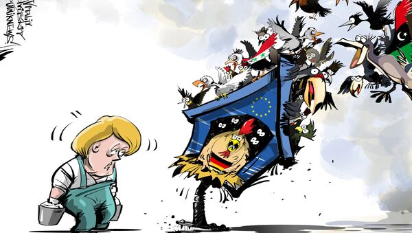 Merkel nie daje rady z uchodźcami - Sputnik Polska