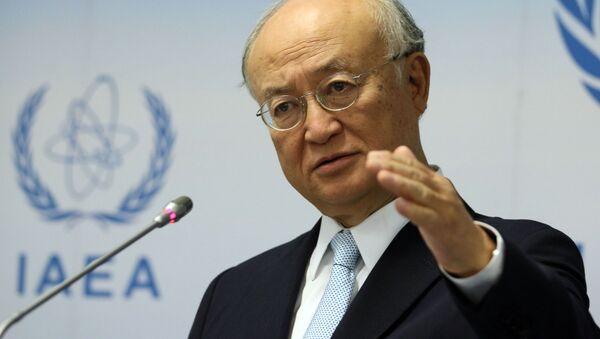 Szef Międzynarodowej Agencji Energii Atomowej (MAEA) Yukiya Amano - Sputnik Polska
