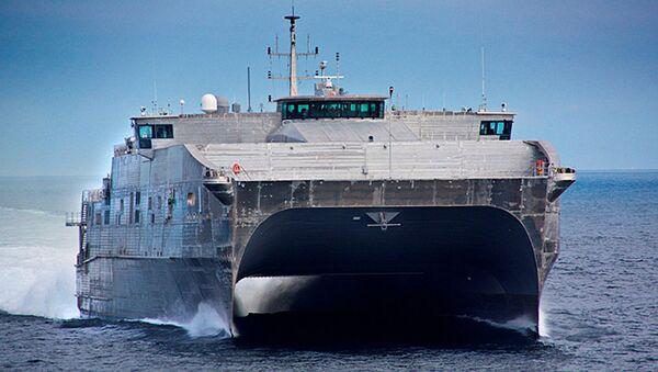 Katamaran klasy EPF amerykańskiej marynarki wojennej - Sputnik Polska