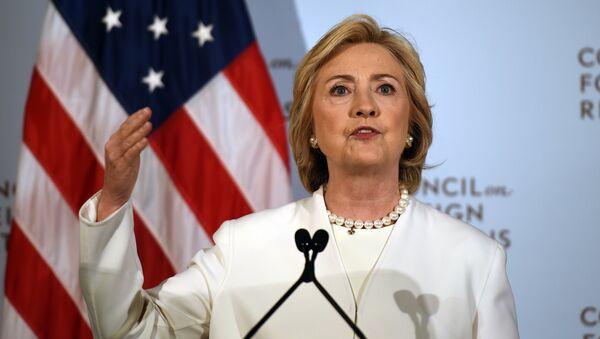 Kandydatka na prezydenta USA Hillary Clinton - Sputnik Polska