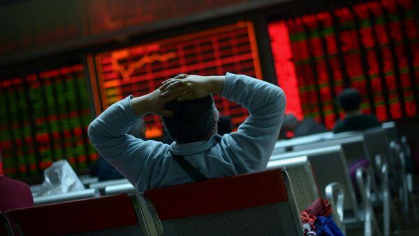 Giełda papierów wartościowych Beijing 8 stycznia, 2016 - Sputnik Polska