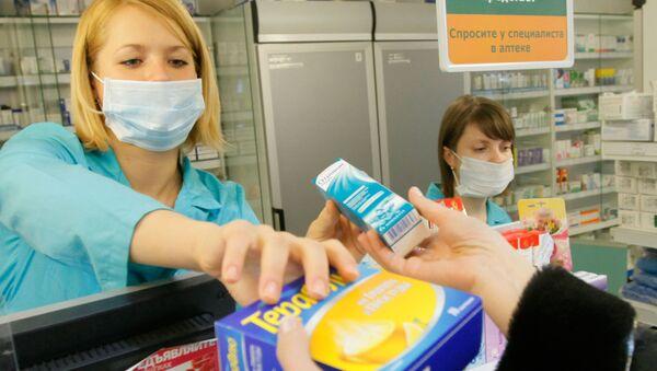 Sprzedaż preparatów przeciwwirusowych w aptekach - Sputnik Polska