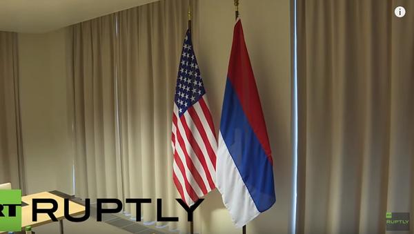 Departament Stanu USA powiesił do góry nogami rosyjską flagę - Sputnik Polska