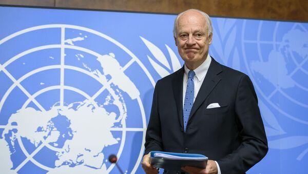Specjalny wysłannik ONZ ds. Syrii Staffan de Mistura - Sputnik Polska