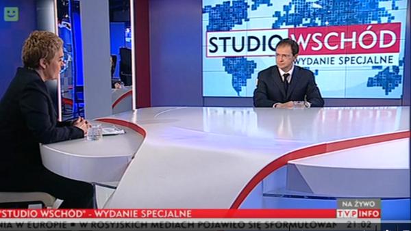 Władimir Medinski w programie Studio Wschód / Wydanie specjalne, 27.01.2016 / TVP INFO - Sputnik Polska