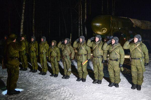Wojskowi nowosybirskiej formacji rakietowej. - Sputnik Polska