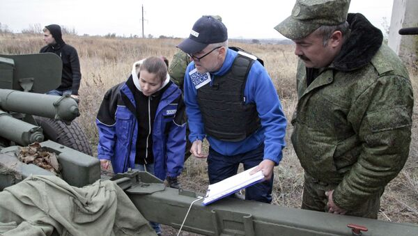Obserwatorzy OBWE na Ukrainie - Sputnik Polska
