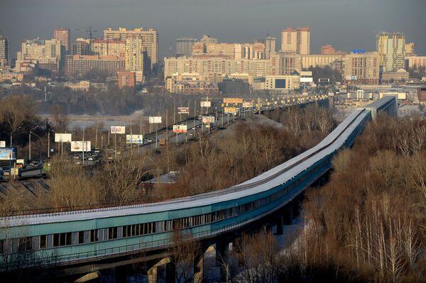 Most Komunalny i most dla metra przerzucony nad rzeką Ob w Nowosybirsku - Sputnik Polska