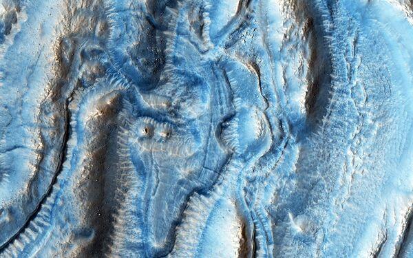 Zdjęcie jednej części terytorium Marsa - Sputnik Polska