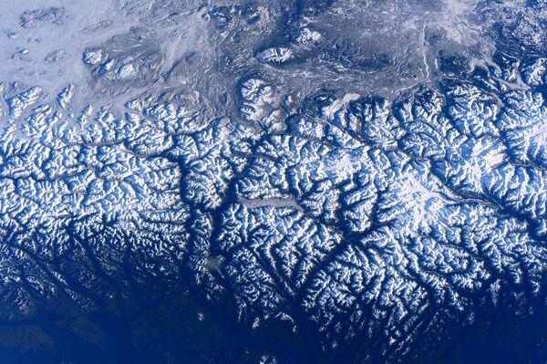 Zdjęcie zachodniego wybrzeżu Kanady zrobione na Międzynarodowej stacji kosmicznej - Sputnik Polska