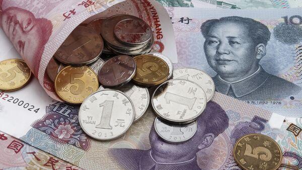 Chińskie banknoty i monety - Sputnik Polska