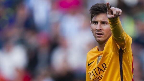 Piłkarz reprezentacji Barcelona Lionel Messi - Sputnik Polska