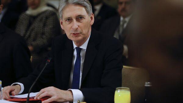 Szef brytyjskiego MSZ Philip Hammond - Sputnik Polska