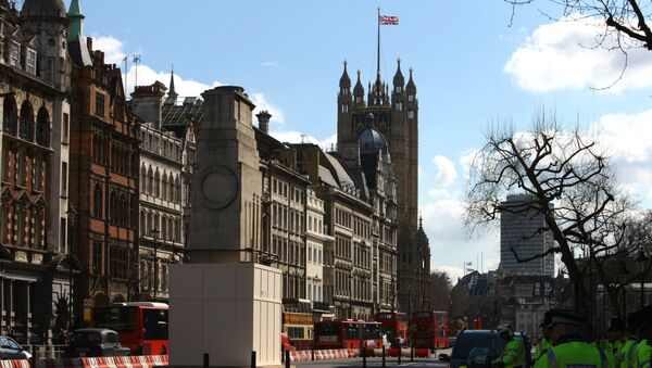 Widok na budynek parlamentu w Londynie, Wielka Brytania - Sputnik Polska