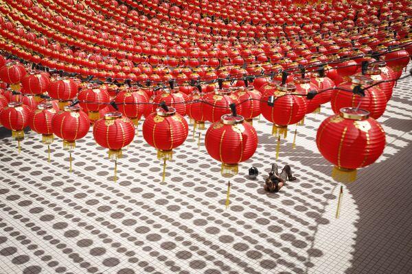 Przygotowanie do chińskiego nowego roku w Malezji - Sputnik Polska