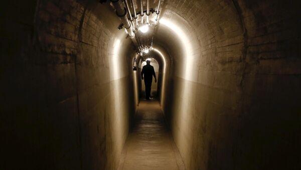 Tunel łączący bunkry byłego artyleryjskiego fortu w mieście Faulensee - Sputnik Polska