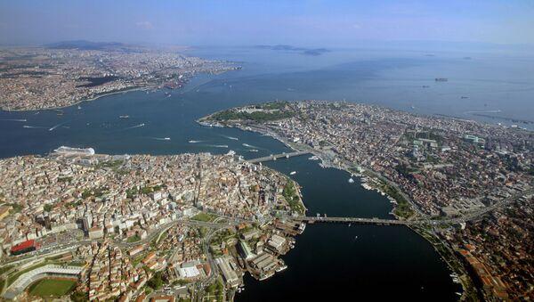 Widok z lotu ptaka na Bosfor w Stambule, Turcja - Sputnik Polska
