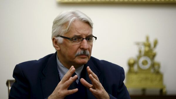 Minister spraw zagranicznych Polski Witold Waszczykowski w Warszawie - Sputnik Polska