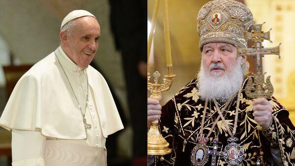 Papież Franciszek i patriarcha Cyryl - Sputnik Polska