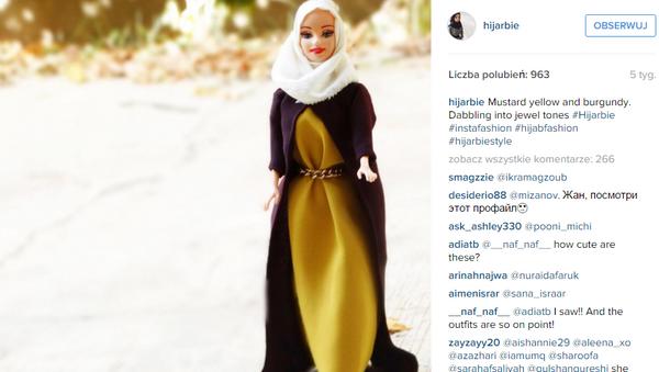 Profil Barbie w hidżabie na Instagramie stał się niesłychanie popularny - Sputnik Polska