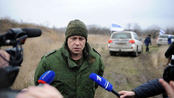Zastępca dowódcy korpusu Ministerstwa Obrony Donieckiej Republiki Ludowej Eduard Basurin - Sputnik Polska