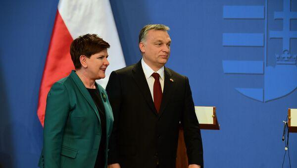 Premier Polski Beata Szydło i premier Węgier Viktor Orban - Sputnik Polska