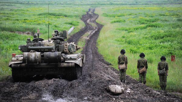 Załoga czołgu T-90 w Osetii Północnej - Sputnik Polska