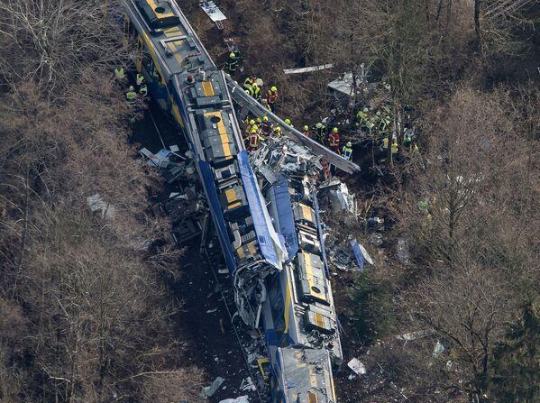 Zderzenie pociągów w pobliżu miasta Bad Aibling, Niemcy - Sputnik Polska