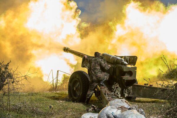 Syryjska armia w prowincji Idlib na północnym wschodzie Syrii - Sputnik Polska