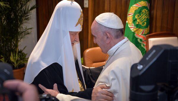 Spotkanie papieża Franciszka i patriarchy Moskwy Cyryla - Sputnik Polska