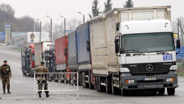 Przejście graniczne Hoptivka między Rosją a Ukrainą - Sputnik Polska