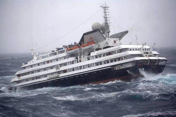 Statek turystyczny Cleila w сieśninie Drake'a - Sputnik Polska