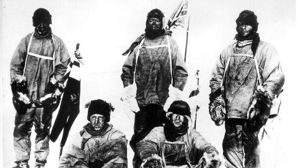Uczestnicy wyprawy antarktycznej Roberta Falcona Scotta w 1912 roku - Sputnik Polska