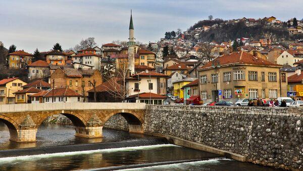Widok na stare miasto w Sarajewie, Bośnia i Hercegowina - Sputnik Polska